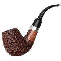 Ser Jacopo Rusticated Bent Billiard with Silver (R1) (A)