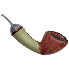 Todd Johnson Smooth Cup and Ball with Leather Wrapped Shank and Bakelite (Hoplite)