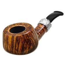 Neerup P. Jeppesen Handmade High Grade Smooth Bent Pot with Silver (7)