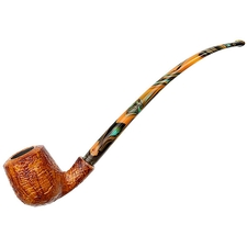 Neerup Basic Sandblasted Bent Billiard  Churchwarden (2)