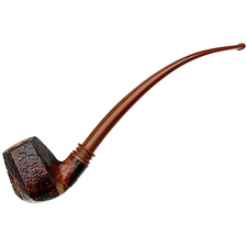 Neerup Classic Sandblasted Paneled Bent Billiard Churchwarden (2)