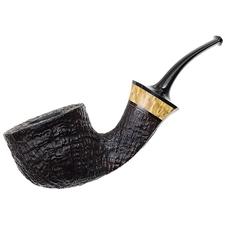 Kent Rasmussen Sandblasted Bent Pot with Mazur Birch