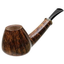 Peter Matzhold Smooth Long Shank Bent Brandy with Horn