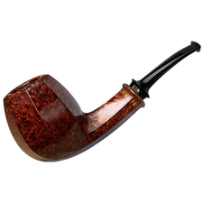 Kurt Balleby Smooth Paneled Bent Billiard with Red Palm (1418)