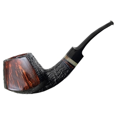 Tom Eltang Partially Sandblasted Paneled Bent Brandy with Horn