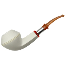 IMP Meerschaum Smooth Bent Bulldog (with Pocket Case)