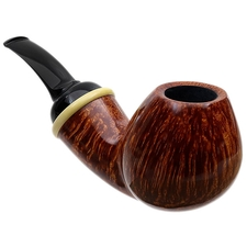 Peter Heding Smooth Bent Brandy with Boxwood (Diamond)