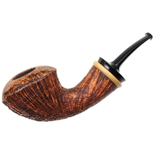 J. Alan Partially Sandblasted Bent Dublin with Boxwood (1119)
