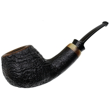 J. Alan Sandblasted Bent Apple with Horn (1406)