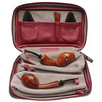J. Alan Smooth Blowfish Two Pipe Set with Ping Zhan (with Tamper and Claudio Albieri Case)