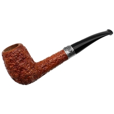Castello Sea Rock Briar Milano Bent Billiard with Silver Wheat Band (93/129)