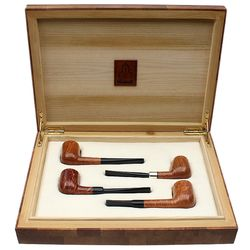 Castello Castello 4 Pipe Set with Wooden Box