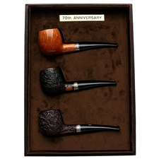 Castello 'Castello' 70th Anniversary 3 Pipe Set (with Leather Box)