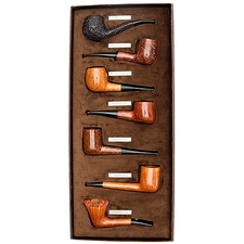 Castello 'Castello' 7 Day Pipe Set (with Leather Box)