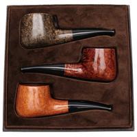 Castello Castello 3 Pipe Set (with Leather Box)