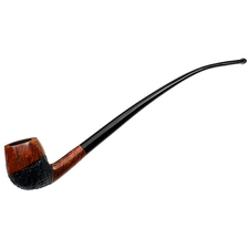 Johs Partially Rusticated Bent Billiard Churchwarden