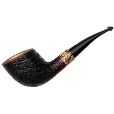 Claudio Cavicchi Black Sandblasted Bent Dublin with Spalted Tamarind