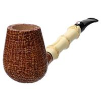 Claudio Cavicchi Brown Sandblasted Bent Brandy with Bamboo