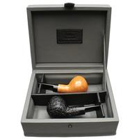 Claudio Cavicchi Bologna 2019 Two Pipe Set with Claudio Albieri Leather Presentation Box (05/05)