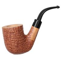 Claudio Cavicchi Brown Sandblasted Bent Billiard