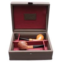 Claudio Cavicchi Bologna 2020 Two Pipe Set with Claudio Albieri Leather Presentation Box (02/05)
