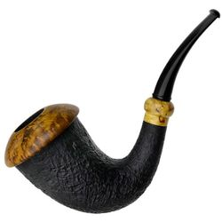 Il Duca Partially Sandblasted Calabash with Masur Birch (D)