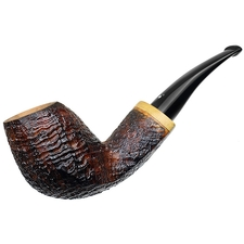 Luciano Sandblasted Bent Egg with Olivewood (FH) (S***)
