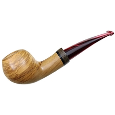 Luciano Smooth Olivewood Bent Apple with Palm Wood (FH) (**)