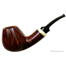 Ernie Markle Smooth Asymmetric Bent Brandy with Muskox Horn