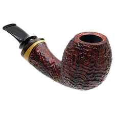 Grechukhin Sandblasted Long Shank Bent Egg with Boxwood and Walnut