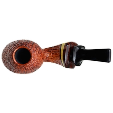 Grechukhin Sandblasted Twisted Calabash with Boxwood and Cocobolo (Collaboration with J. Alan)