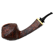 Grechukhin Sandblasted Magnum Long Shank Bent Bulldog with Boxwood
