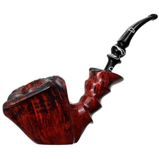 Nording Orange Grain Smooth Bent Dublin Sitter (Giant)