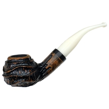 Nording Royal Flush Partially Rusticated Bent Apple (Queen)