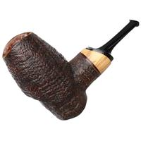 Viktor Yashtylov Sandblasted Calabash Poker with Olivewood (Magnetic Stem)
