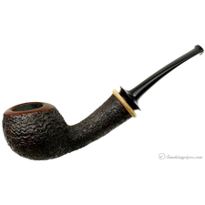 J&J Sandblasted Bent Apple with Orange Wood