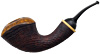 Bruce Weaver Partially Sandblasted Bent Dublin with Boxwood