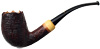 Gabriele Sandblasted Bent Billiard with Boxwood (Turtle)