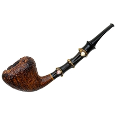 Gabriele Sandblasted Bent Acorn with Bamboo (Turtle)