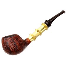 Gabriele Sandblasted Bent Apple with Bamboo (Turtle)