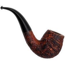 Chris Asteriou Sandblasted Strawberry Wood Bent Billiard (51/17)