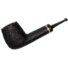 Chris Asteriou Sandblasted Oval Shank Billiard with Curly Birch (102/17)