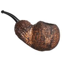 Werner Mummert Rusticated & Sandblasted Bent Apple with Black Walnut