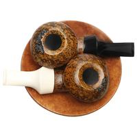 Geiger Smooth Yin Yang Eskimo Two Pipe Set with Tobacco Plate
