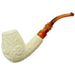 AKB Meerschaum Carved Bent Brandy (with Case)