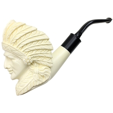 AKB Meerschaum Carved Native American Chief (with Case)