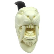 AKB Meerschaum Carved Sabertooth Tigar (with Case)