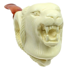 AKB Meerschaum Carved Claw Holding Panther Head (with Case)