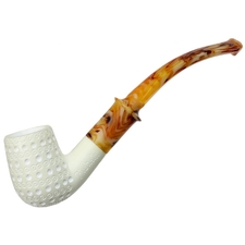 AKB Meerschaum Lattice Petite Bent Billiard
