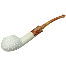 AKB Meerschaum Lattice Squashed Bent Tomato (with Case)